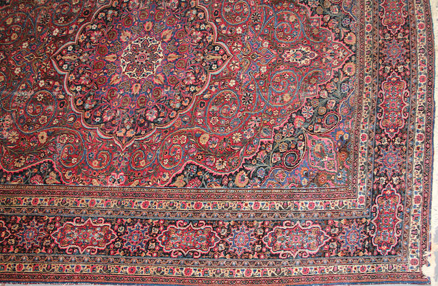 A Meshed carpet  size approximately 11ft. 4in. x 15ft.
