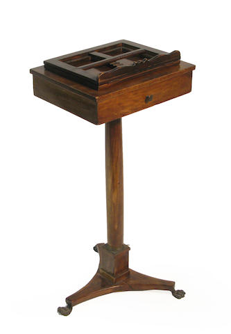 A Continental Neoclassical walnut  music stand 19th century