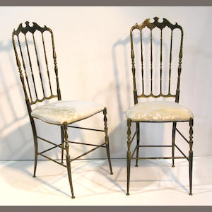 A set of six Chiavari chairs mid 20th century