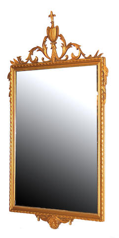 A Continental Neoclassical style painted and parcel gilt mirror late 19th/early 20th century