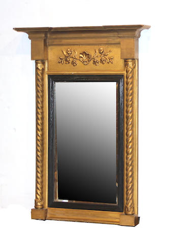 A Federal style giltwood mirror early 20th century