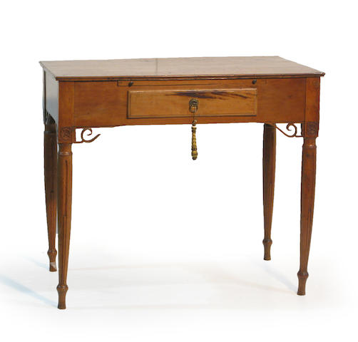 An Italian Neoclassical fruitwood writing table late 18th century