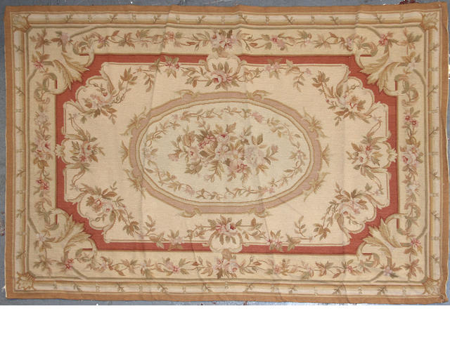 A Aubusson Design Chinese needlepoint size approximately 3ft. 9in. x 5ft. 11in.