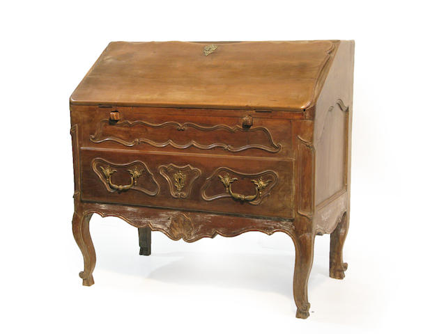 A Louis XV Provincial slant front desk