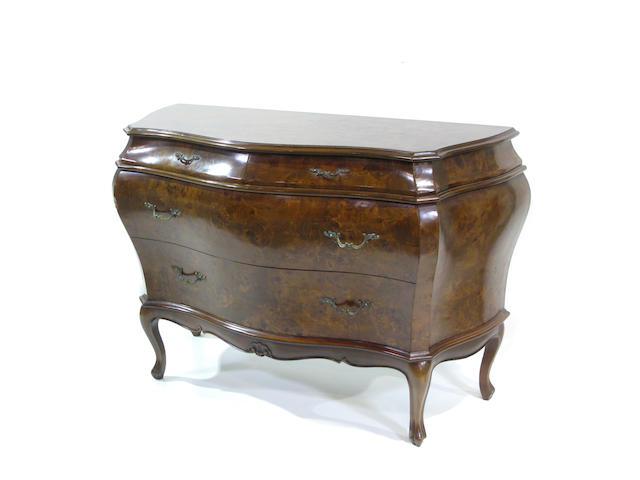 A Rococo style style bombé chest