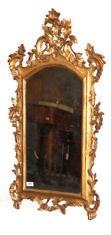 A Louis XV style gilt painted  mirror