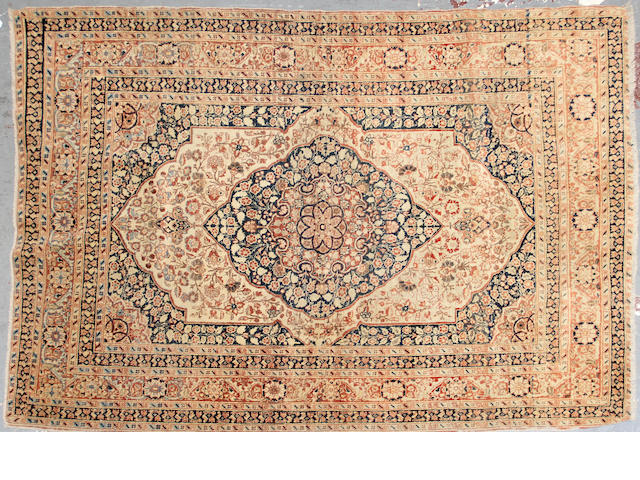 A Hadji Jalili Tabriz rug  size approximately 4ft. 1in. x 5ft. 5in.