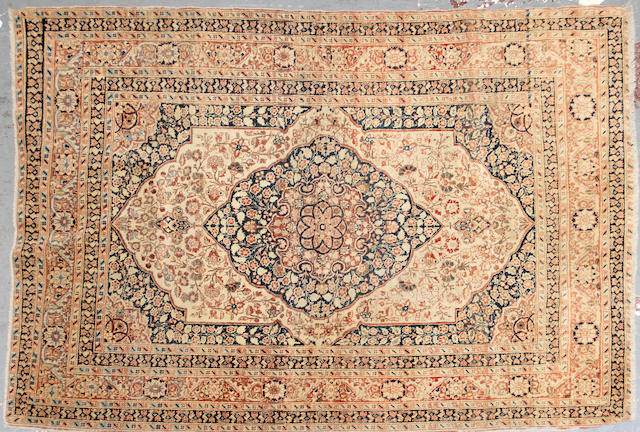 A Hadji Jalili Tabriz rug  size approximately 4ft. 1in. x 5ft. 5in.