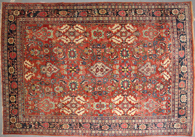 A Mahal carpet  size approximately 8ft. 6in. x 12ft. 5in.