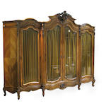 A Louis XV style walnut armoire late 19th century
