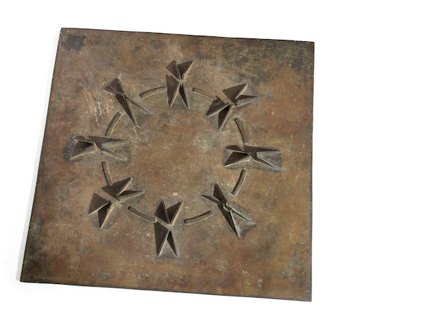 Paul Jenkins (1923-2012) Mandala Sundial, 1978 17 1/2 x 17in.