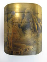 A gold lacquered four-case inro By Iizuka Toyo I, 18th century