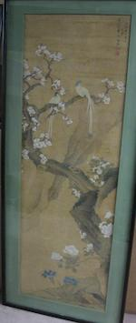 Lu Cong (Qing dynasty) Paired Birds and Flowering Tree