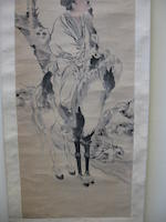 Various Artists (19th century) Two hanging scrolls of Figures