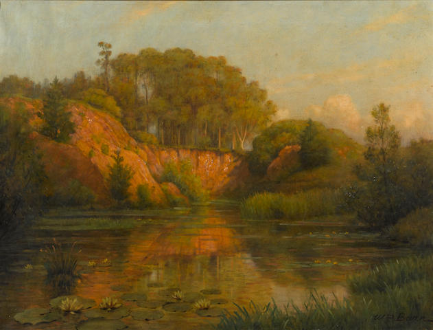 William Barr, Evening Sunshine, Golden Gate Park Evening sunshine, Golden Gate Park 24 1/4 x 32 1/4in