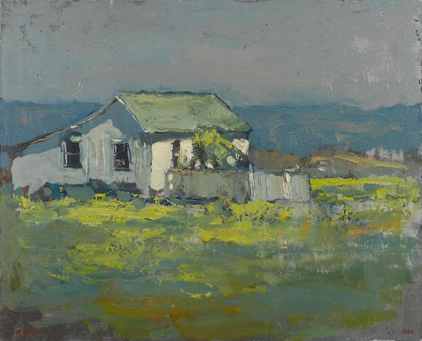 Si Chen Yuan (1911-1974) Farmhouse 24 x 29 1/2in