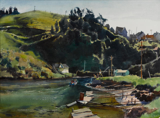 George Gibson (American, 1904-2001) Albion, California, 1963 22 x 30in