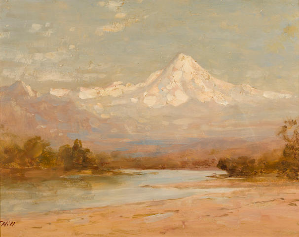 Thomas Hill (American, 1829-1908) View of Mt. Hood 14 1/4 x 18 1/4in