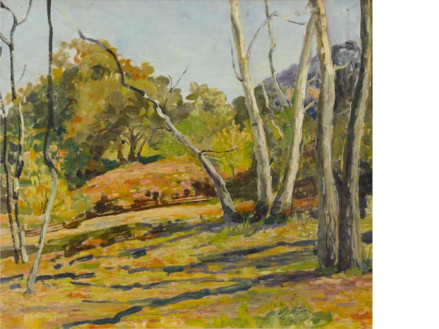 Walter Elmer Schofield (American, 1867-1944) Irvine Park 20 x 24in
