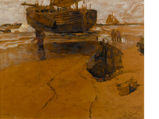 William Frederick Ritschel (American, 1864-1949) Katwyk Strand, Holland sight: 25 x 31in