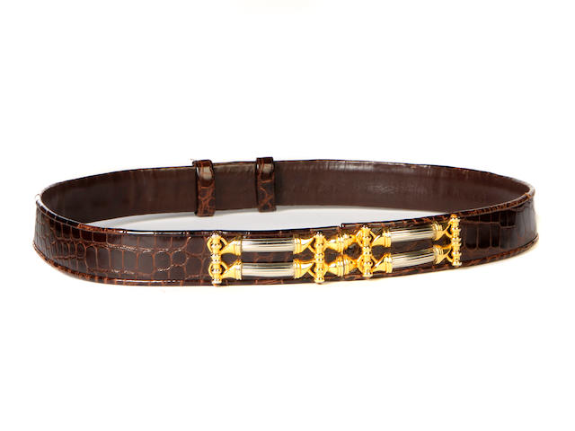A Judith Leiber alligator belt