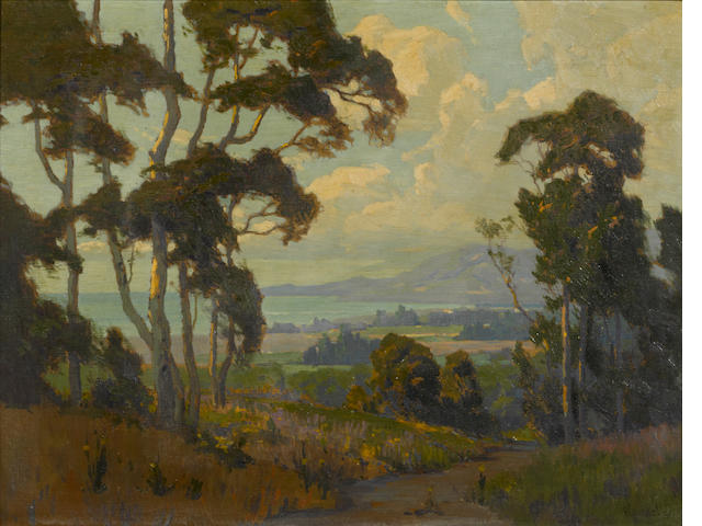 Elmer Wachtel (American, 1864-1929) A view along the Santa Barbara coast 20 x 26in