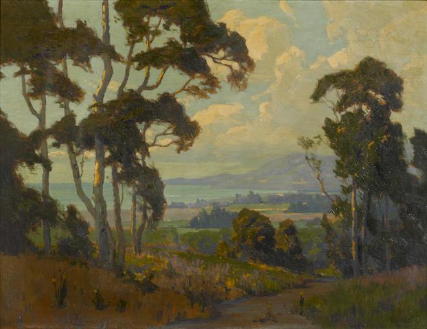 Elmer Wachtel (American, 1864-1929) A view along the Santa Barbara coast 20 x 26in
