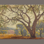 Hanson Puthuff (American, 1875-1972) Shadow of the oaks 20 1/4 x 26in