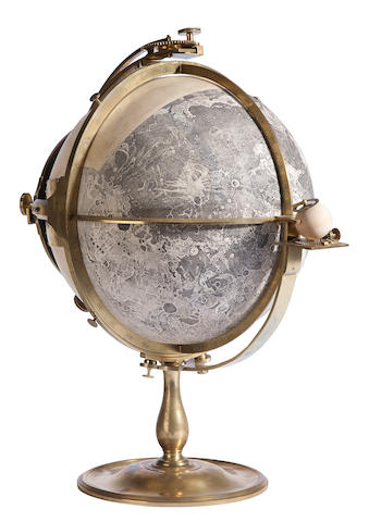 RUSSELL, JOHN. 1745-1806. A Globe representing the Visible Surface of the Moon, constructed from Triangles Measured with a Micrometer and accurately drawn & engraved from a long series of Telescopic Observations by J. Russell, R.A. London: John Russell, Newman Street, June 14, 1797.