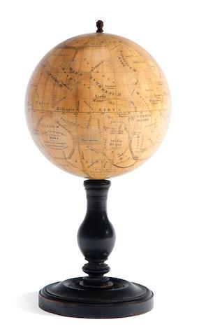 Antoniadi after C. Flammarion, pub. Bertaud, globe