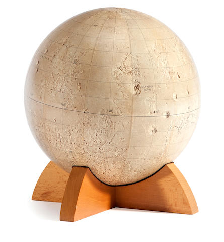 Replogle Set of X globes produced for USGS by Replogle
