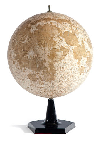 Russian Moon globe based on Luna and Zond