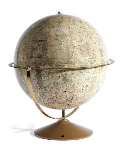 DENOYER-GEPPERT. Denoyer-Geppert Lunar Globe. [Chicago, IL]: Denoyer-Geppert, [c.1971].