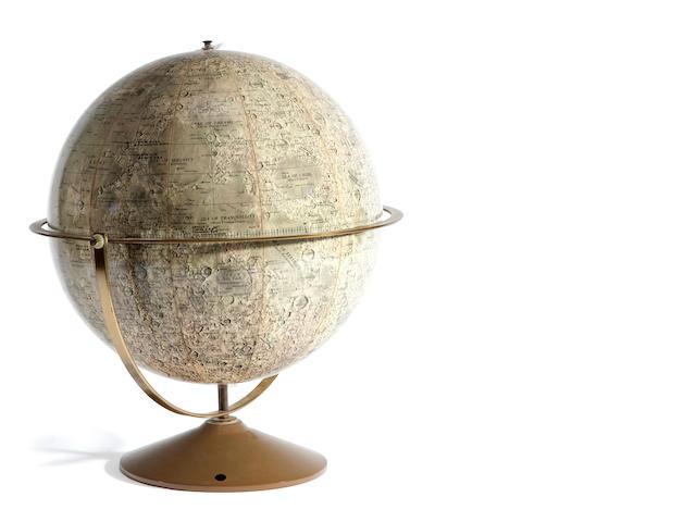 Denoyer-Geppert Lunar globe, metal stand