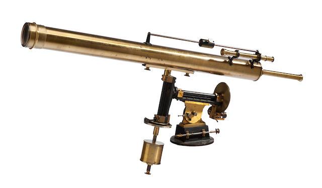 REFRACTING TELESCOPE; ATELIERS R. MAILHAT. A 4-inch refracting telescope, Paris, c.1900,