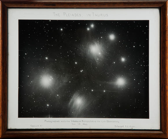 LICK OBSERVATORY. The Pleiades, from Lick Observatory, Mount Hamilton, CA, December 28, 1899,