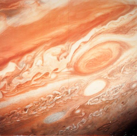 VOYAGER II. The Great Red Spot, around July 3, 1979,