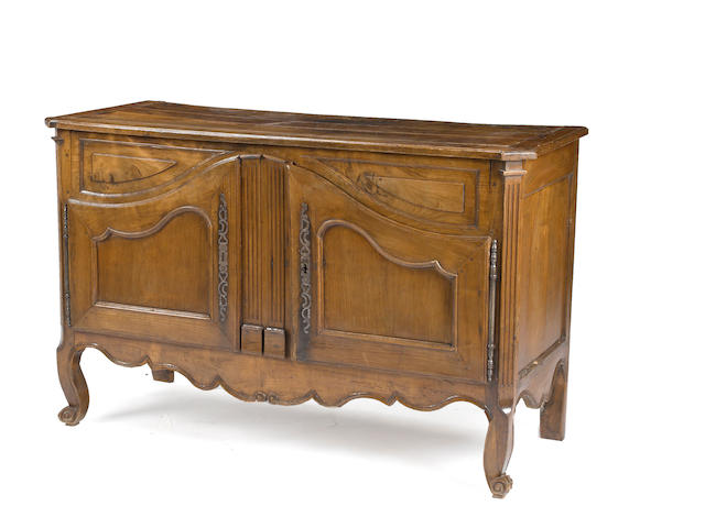 A Louis XV/XVI style walnut buffet