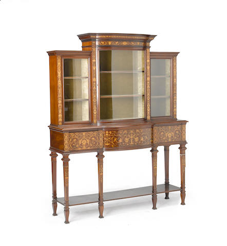 An Edwardian inlaid mahogany cabinet circa 1900