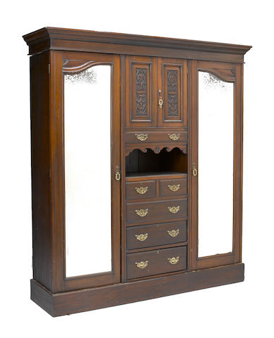 A Victorian Renaissance Revival walnut armoire late 19th century