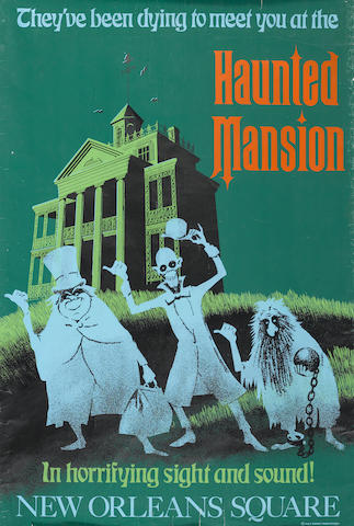 A Disneyland Haunted Mansion atraction poster