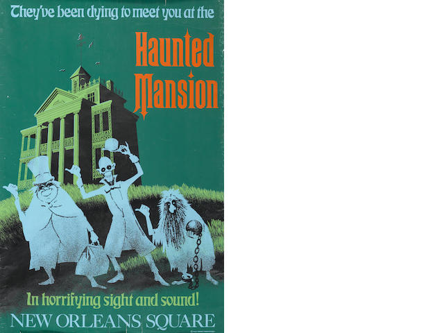 "THE HAUNTED MANSION POSTER, APPROX. 36"" X 54"""