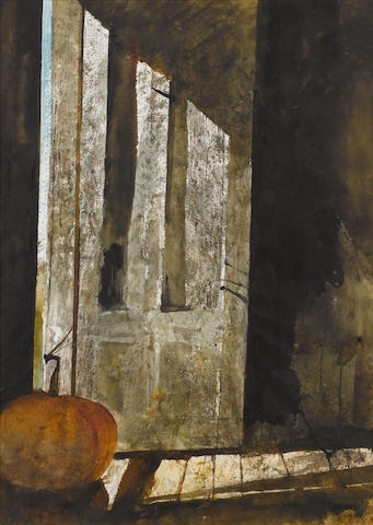 Andrew Wyeth, Back Entrance, signed l/r, wc/pp, 29 x 21in