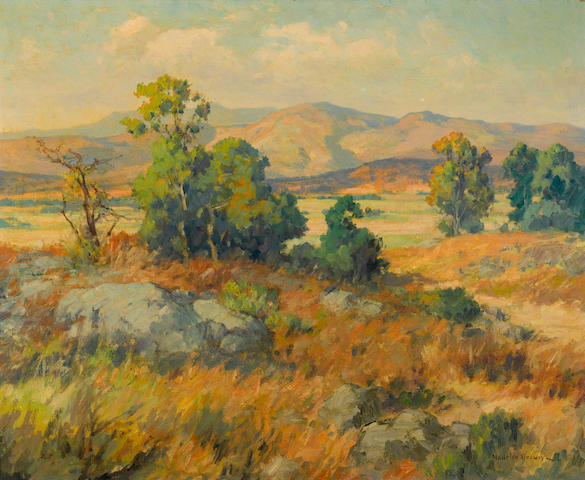 Maurice Braun, Landscape, oil on canvas, signed