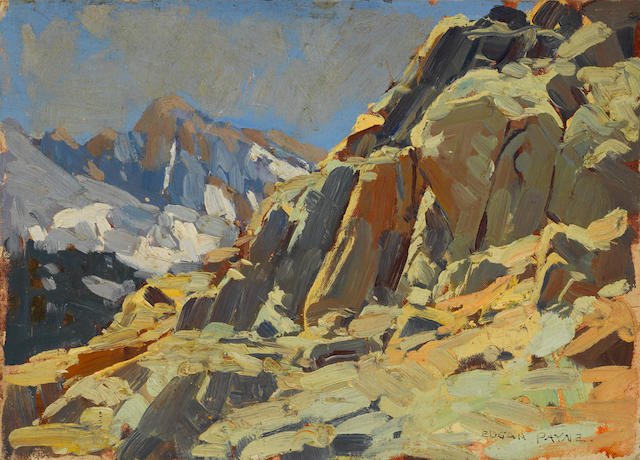 Edgar Payne (1883-1947) Rocky crags 10 x 14in