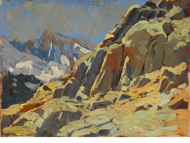 Edgar Payne, Rocky Crags, Sierras, unframed