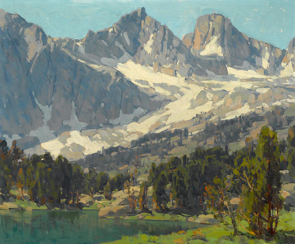 Edgar Payne (1883-1947) Mount Gayley and Mount Sill, Big Pine, High Sierras, California 25 x 30in
