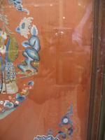 Two framed embroidery panels Late Qing dynasty