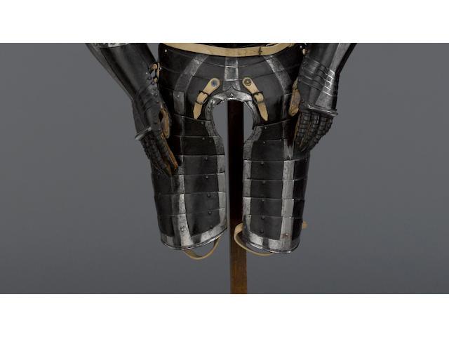 A Black And White Three-Quarter Armor