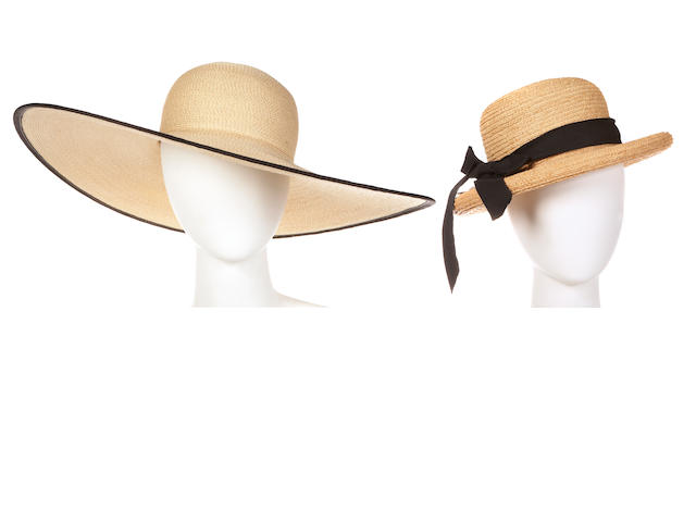 A group of straw hats
